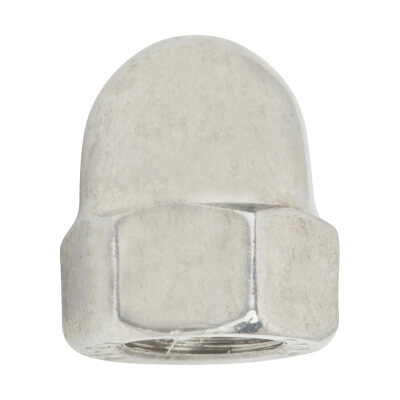 TIMco Hex Domed Nut - M8 - A2 Stainless Steel - Pack 10