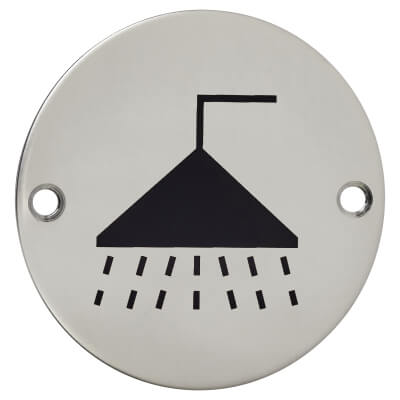 Shower - 75mm - Polished Stainless Steel