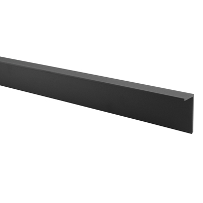 Premier Angled Headrail - Black Textured - 17-19mm Panels