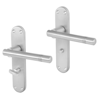 Morello Bologna Door Handle - Bathroom Set - Satin Chrome