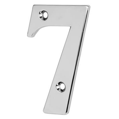76mm Numeral - 7 - Bright Chrome