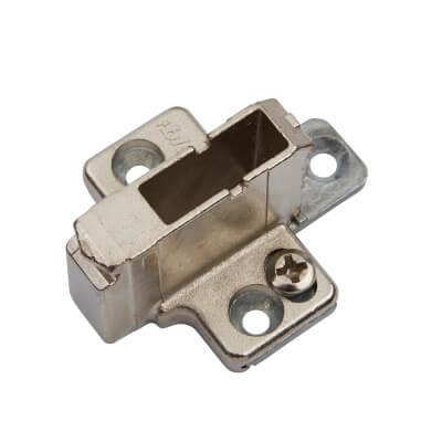 Blum CLIP Mounting Plate - Cruciform - 18mm Spacing - Zinc Diecast - Screw on