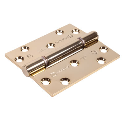 Royde &Tucker (H102) Hi-Load Triple Knuckle Butt Hinge - 100 x 88 x 3mm - Brass Plated