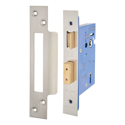 A-Spec Architectural 5 Lever Sashlock - 78mm Case - 57mm Backset - Satin Stainless