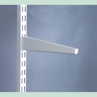 elfa® Bracket for Solid Shelving - 320mm - White)