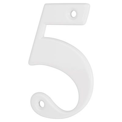 76mm Numeral - 5 - White