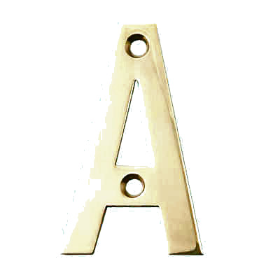 75mm Letter - A - Brass PVD
