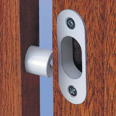 Yale® WS12 High Security Hinge Bolt - White - Pack 2)