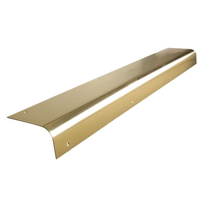 Altro Round Nose Door Step - 825mm - Polished Brass