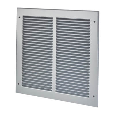 Vent Cover Grille - 295 x 295mm to suit transfer vent 250 x 250mm - Silver)