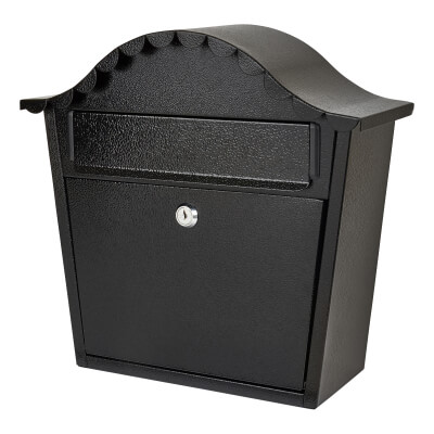 Scimitar Mail Box - 330 x 340 x 130mm - Black)