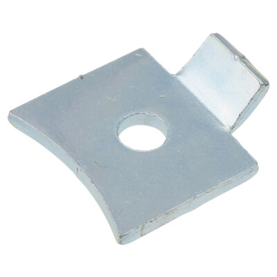 ION Standard Flat Bookcase Clip - Bright Zinc Plated - Pack 10)