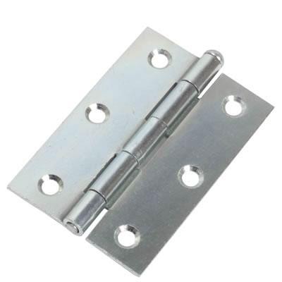 Loose Pin Steel Hinge - 89 x 58mm - Bright Zinc Plated