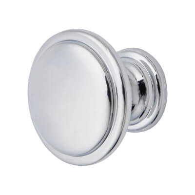 Elan Disc Cabinet Knob - 30mm Diameter - Polished Chrome