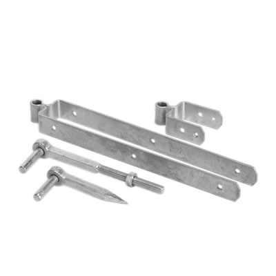 Standard Fieldgate Hinge Set - 300mm - Galvanised
