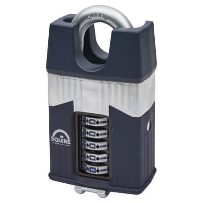 Squire Warrior Combination Closed Shackle Padlock - 65mm