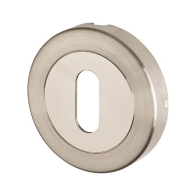 Altro Duo Escutcheon - Keyhole - Satin/Polished Stainless Steel