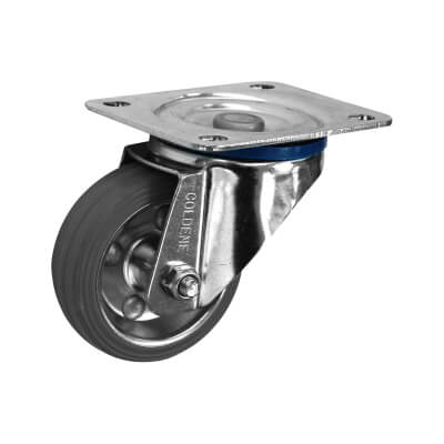 Individual Industrial Non-marking Castor - Swivel - 80kg - Grey