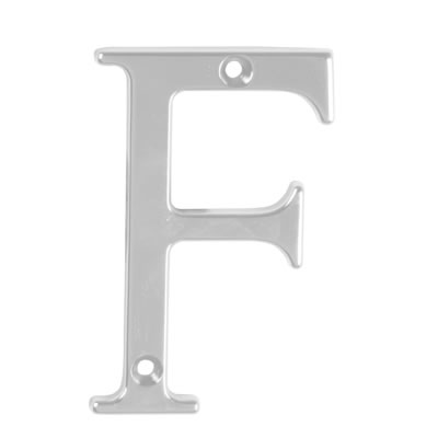 76mm Letter - F - Satin Chrome
