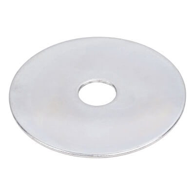Penny Repair Washer - 50mm Diameter x 10mm Hole - Zinc Plated - Pack 25