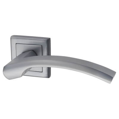 Morello Element Lever Door Handles on Rose - Satin Chrome)