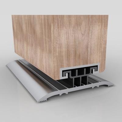 Norsound 850 Door Bottom Seal - 1000mm - Satin Anodised Aluminium)