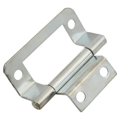 Cranked Type 2 Flush Hinge - Nickel Plated
