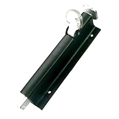 Garage Foot Bolt - 178mm - Black Japanned