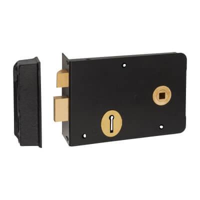 UNION® 1439 Scotch Rim Lock - Right Hand - Black