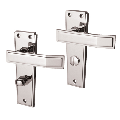 Jedo Deco Door Handle - Bathroom Set - Polished Chrome
