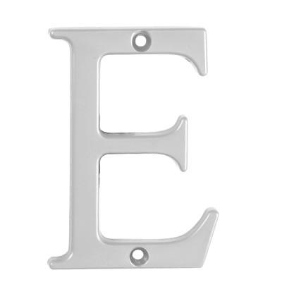 76mm Letter - E - Satin Chrome