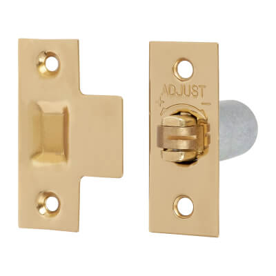 Arrone® Original British Pattern Roller Catch - 38 x 19mm - Polished Brass