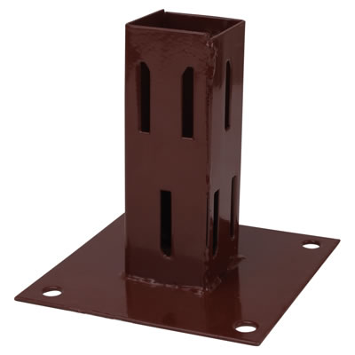 Powapost® Fence Post Bolt Down Shoe - Easy Grip - 100mm)