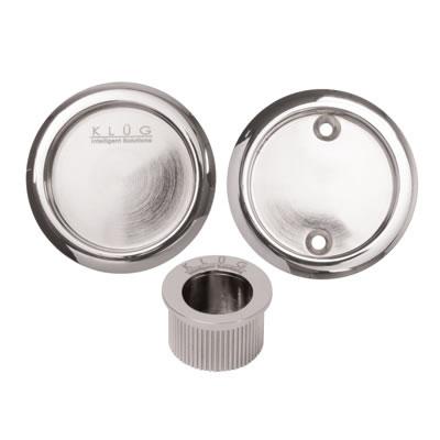 KLÜG Round 3 Piece Flush Handle Set - Polished Chrome