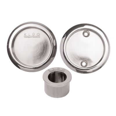 KLÜG Round 3 Piece Flush Handle Set - Polished Chrome