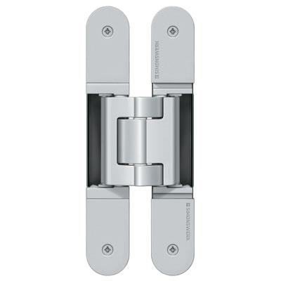 Simonswerk Tectus TE540 3D Hinge - 200 x 32mm - Polished Nickel - Pair