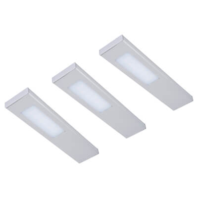 Sensio LED Quadra Under Cabinet Light - Rectangle - Warm White - Includes Driver - Pack 3)