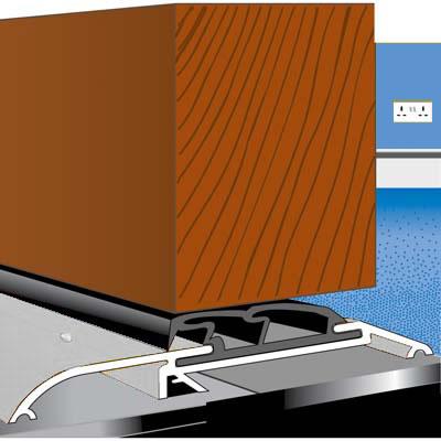 Exitex Roll Over Threshold - 933mm - Plain Aluminium)