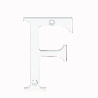 76mm Letter - F - White