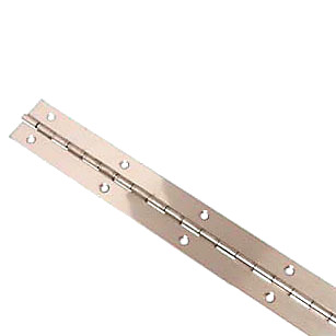 Piano Hinge - 1800 x 32 x 1mm - Polished Stainless Steel)