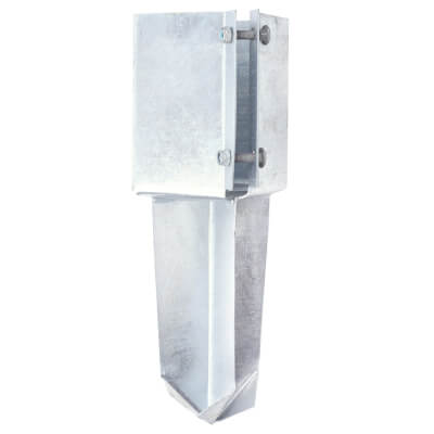 Taurus Concrete In Fence Post Shoe - Bolt Secure - 100mm - Galvanised)