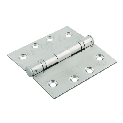 Enduro Extra Wide Twin Ball Bearing Hinge - 102 x 102 x 3mm - 316 Polished Stainless Steel)