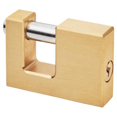Solid Brass Shutter Lock - 70mm - Keyed to Differ