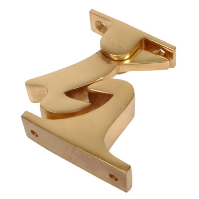 Gravity Door Holder - 60mm - Polished Brass