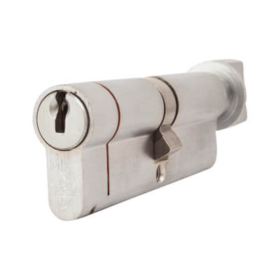 Yale® 1 Star Kitemarked Cylinder Lock - Euro Double & Thumbturn - 45[k]* + 45mm - Nickel Plated)