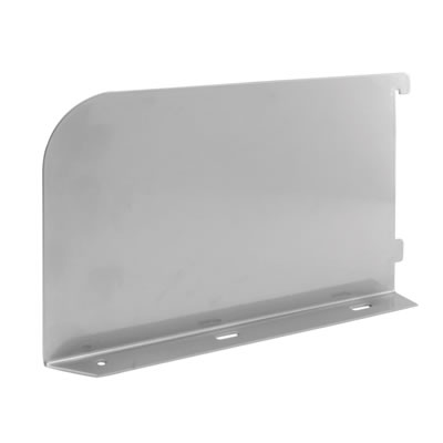 elfa® Book End/Shelf End - 250mm - Left - Silver