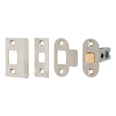 Project Bolt Through Tubular Latch - 67mm Case - 46mm Backset - Nickel Plated)