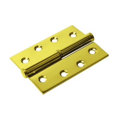 Lift-Off Hinge - 102 x 76 x 2mm - Right Hand - PVD Brass - Pair