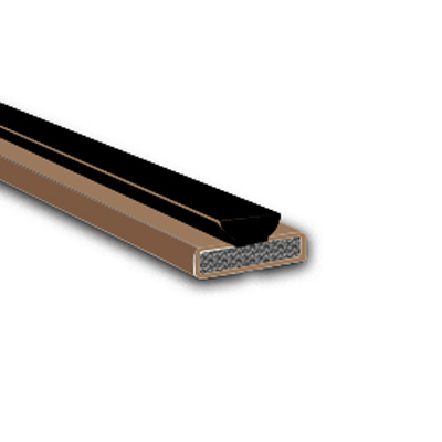 Fire & Smoke Intumescent Strip - 25 x 4 x 2100mm with Brush Pile - Brown