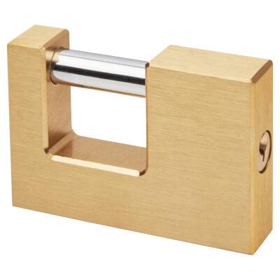 Solid Brass Shutter Lock - 90mm - Keyed to Differ